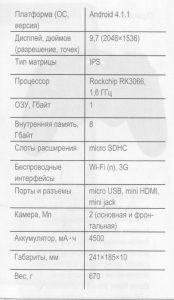 Планшет Ritmix RMD-1058